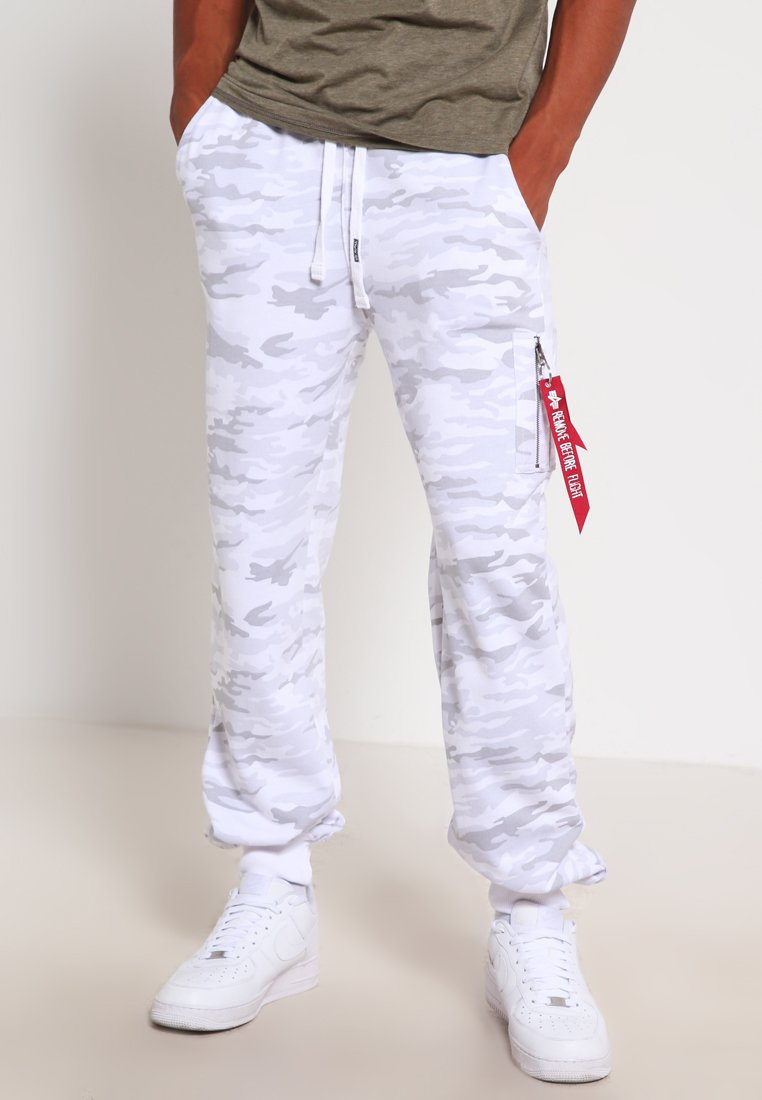 Alpha Industries - X FIT PANT - Tracksuit bottoms - white