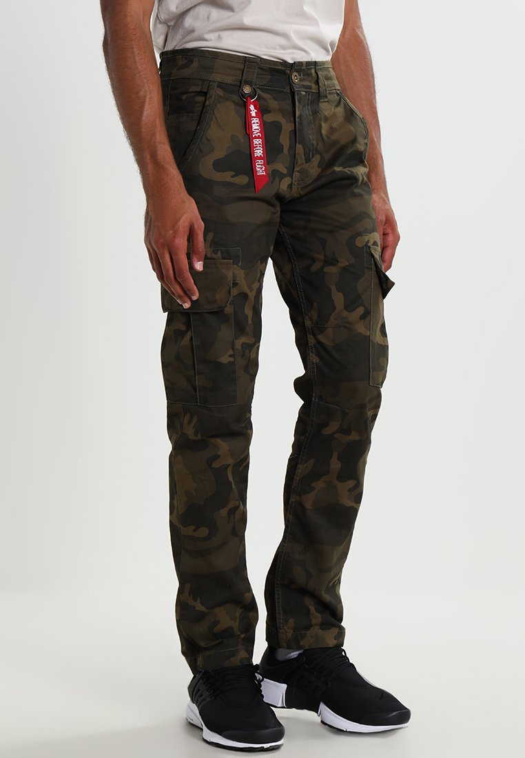 Alpha Industries - AGENT  - Pantalon cargo - olive camo