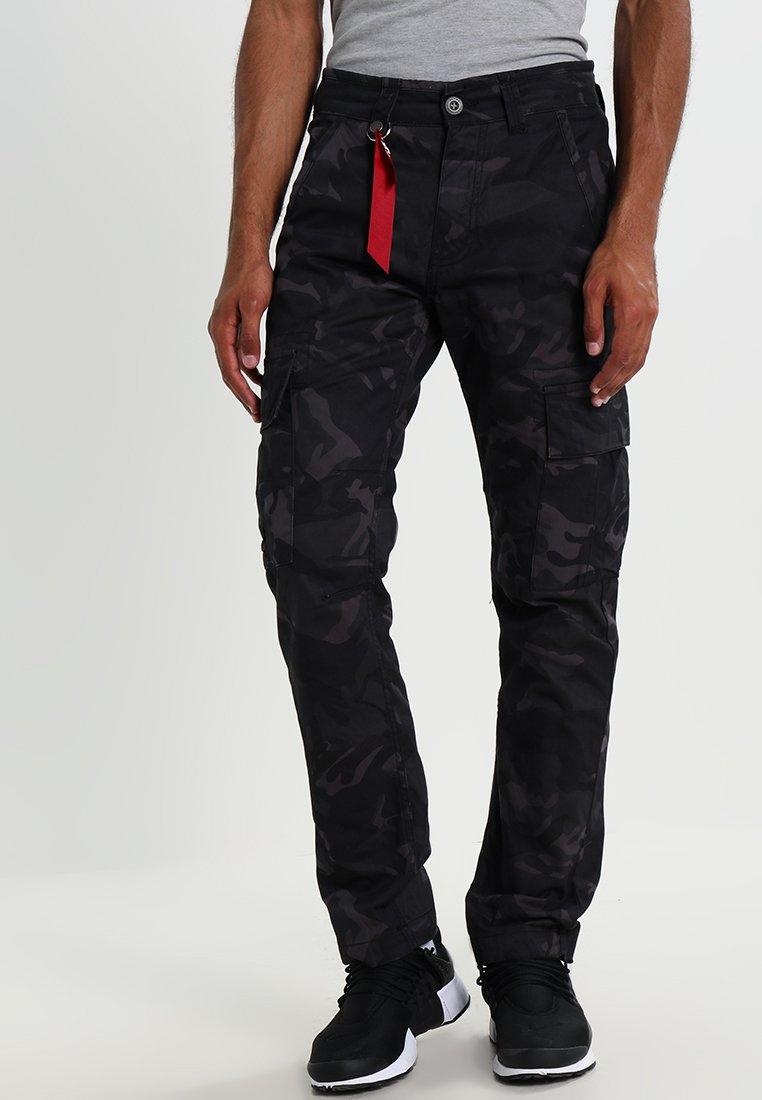 Alpha Industries - AGENT  - Pantalon cargo - black camo