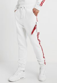 Alpha Industries - JOGGER TAPE - Tracksuit bottoms - white - 0