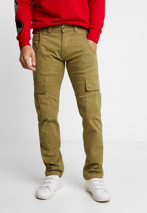 AGENT  - Cargo trousers - light oliv