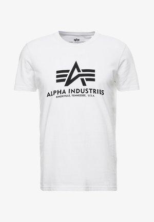 BASIC - T-shirt med print - weiss