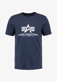 Alpha Industries - BASIC - T-shirts med print - navy - 5