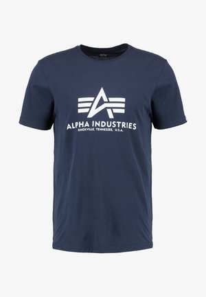 BASIC - T-shirt med print - navy
