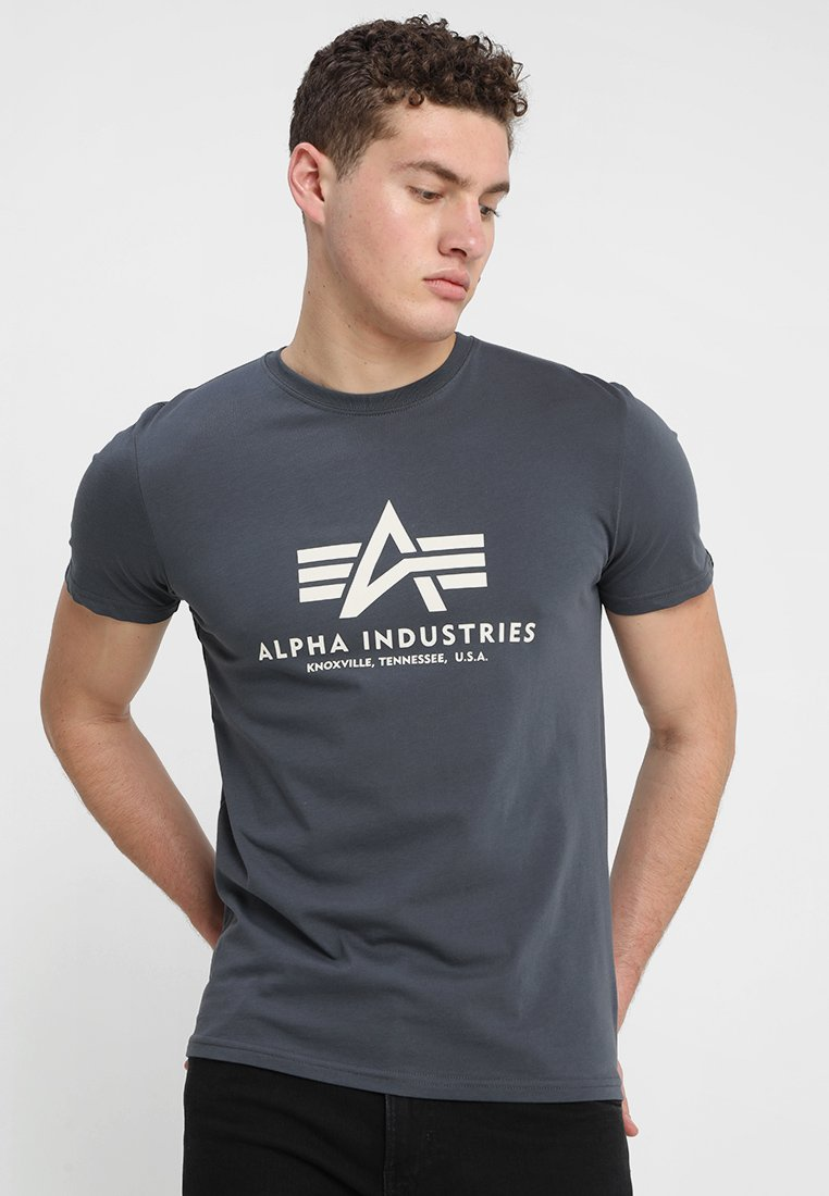 Alpha Industries - BASIC - T-shirts med print - anthrazit
