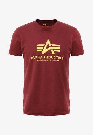 BASIC - T-shirt con stampa - burgundy