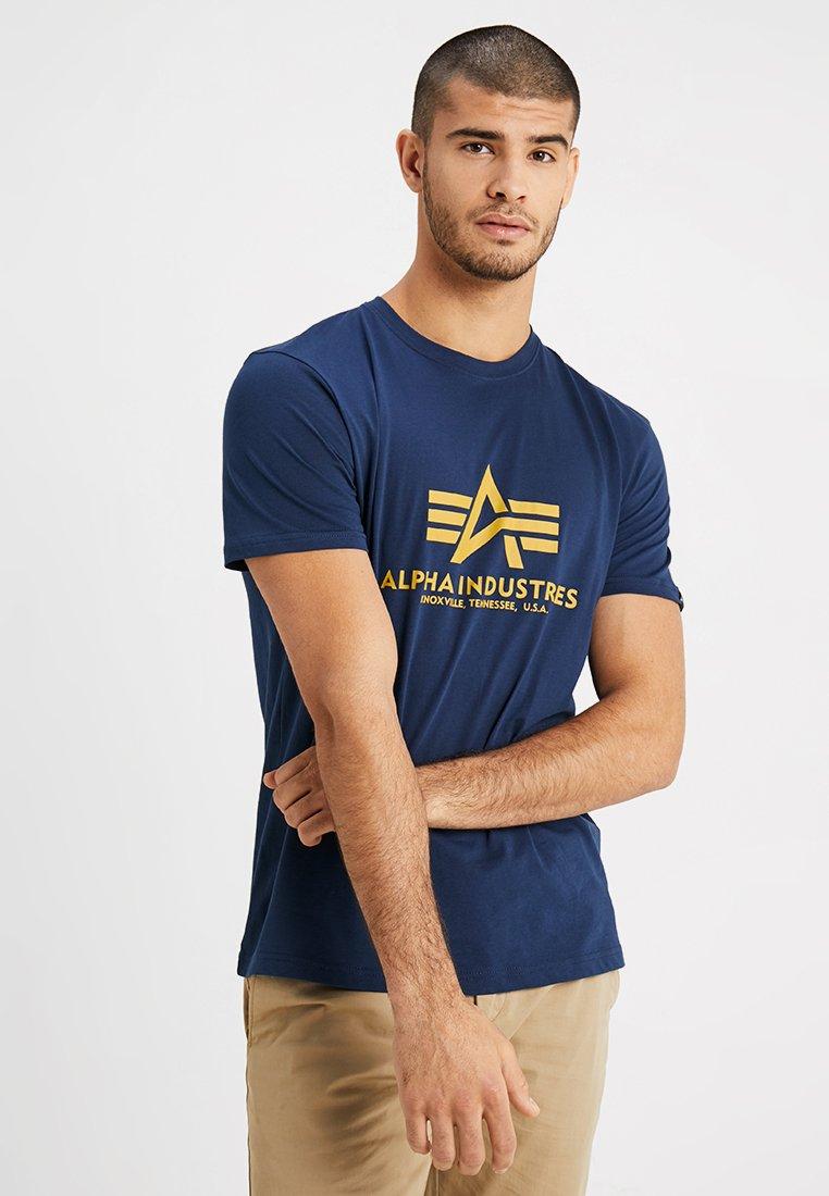 Alpha Industries - BASIC - Print T-shirt - new navy