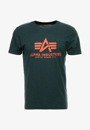 BASIC - T-shirt med print - petrol