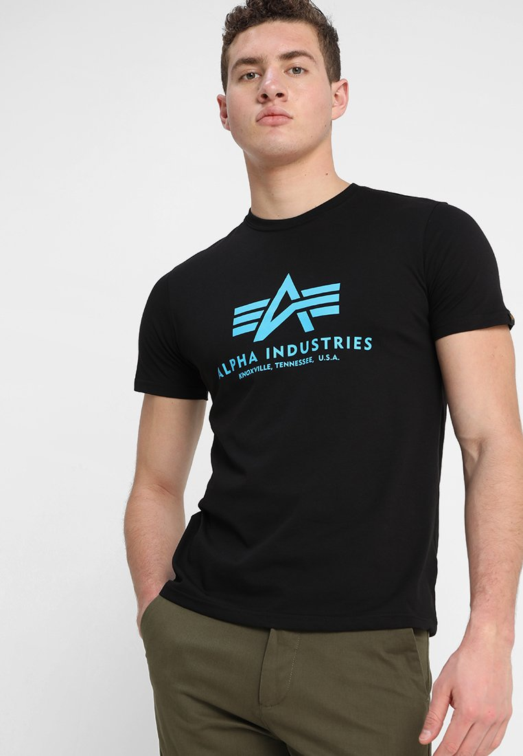 Alpha Industries - BASIC - T-shirt print - black/blue