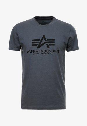 BASIC - Camiseta estampada - grey/black