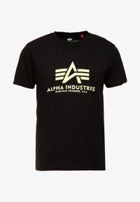 Alpha Industries - BASIC - Camiseta estampada - black - 3