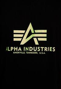 Alpha Industries - BASIC - Camiseta estampada - black - 4