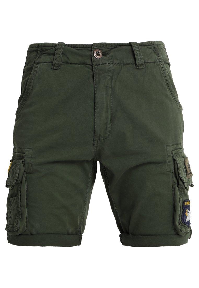 Alpha Industries Crew Patch - Shorts Dark Oliv tTaLhTa