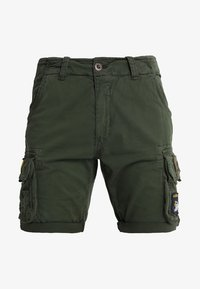 Alpha Industries - CREW PATCH  - Shorts - dark oliv - 5