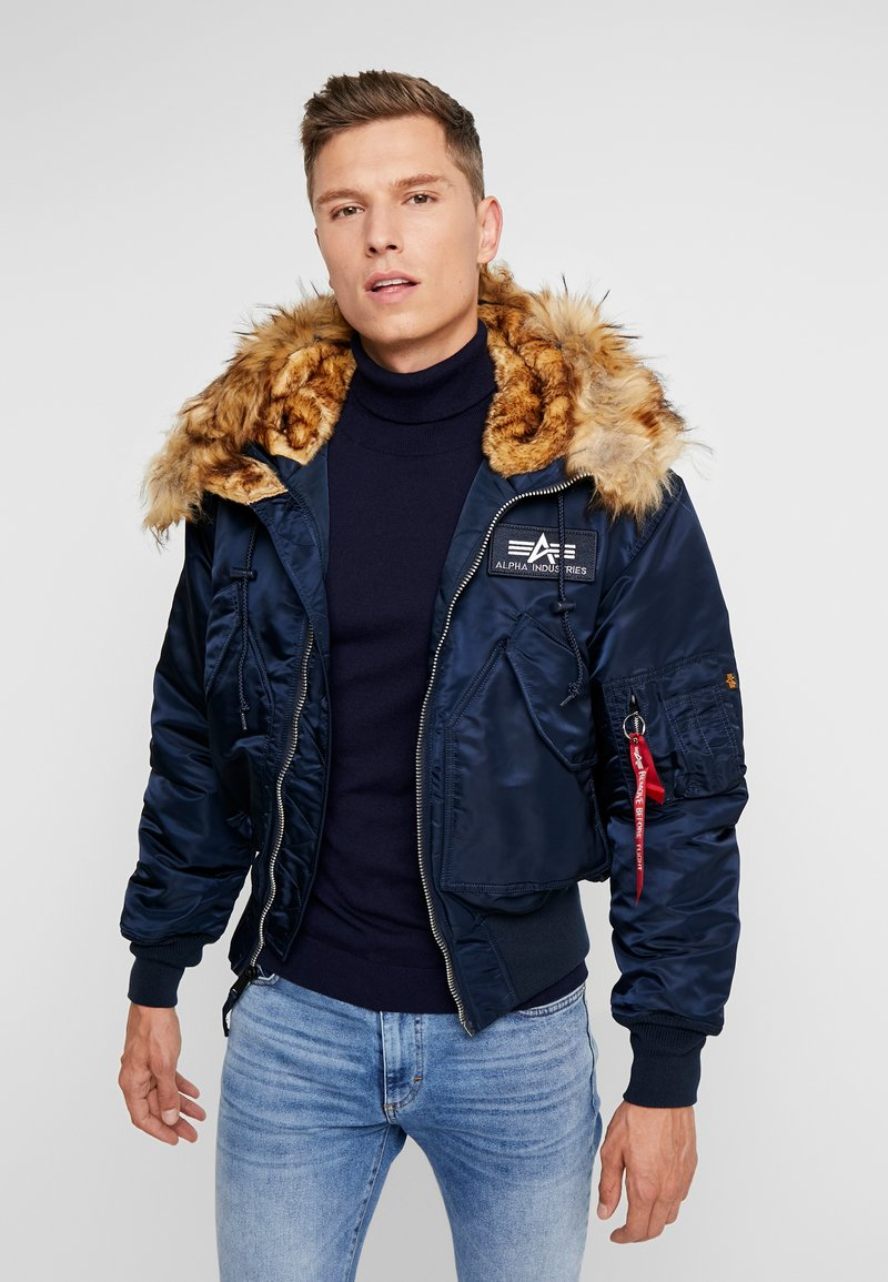 Alpha Industries - HOODED CUSTOM - Lett jakke - rep blue