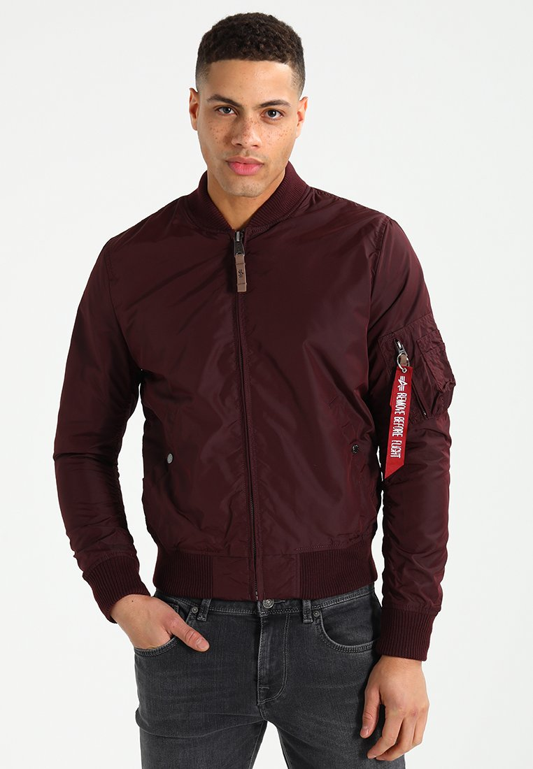 Alpha Industries - Bomberjacke - dark maroon