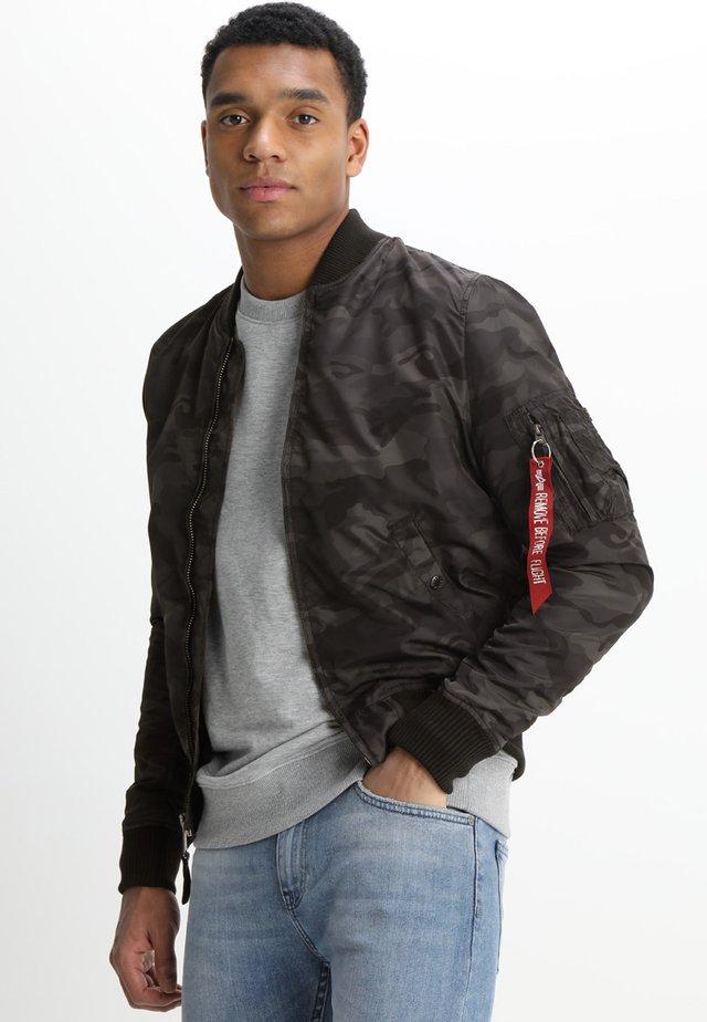 Bomber Jacket - black camo