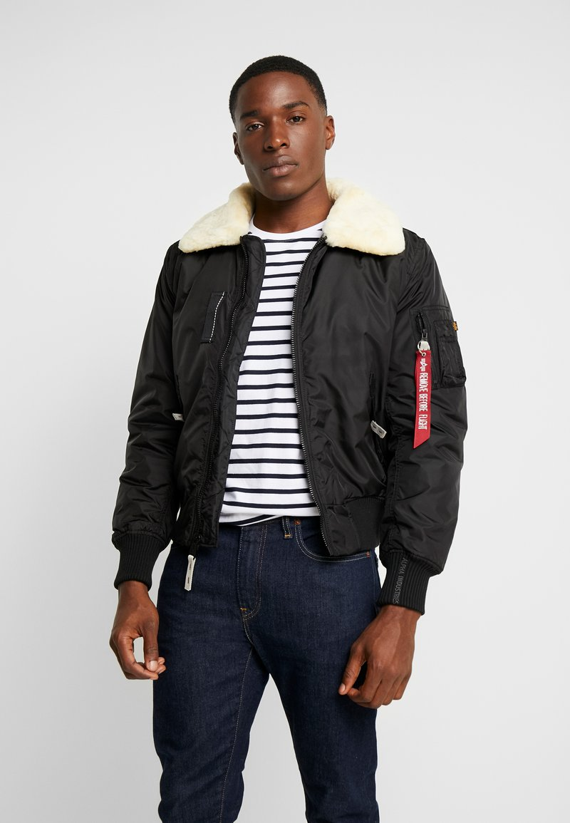 Alpha Industries - INJECTOR III - Bomberjacke - black/beige