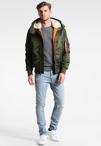 Alpha Industries - HOODED STANDART FIT - Lett jakke - dark green - 1