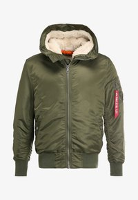 Alpha Industries - HOODED STANDART FIT - Lett jakke - dark green - 5