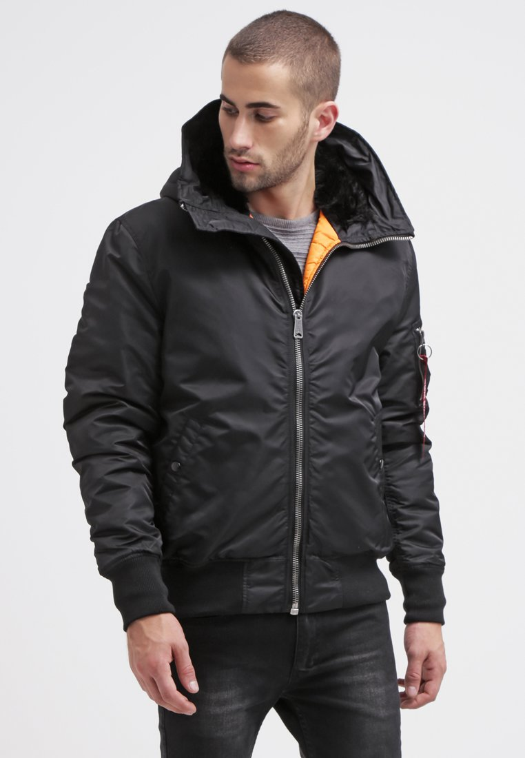 Alpha Industries - HOODED STANDART FIT - Giacca da mezza stagione - black