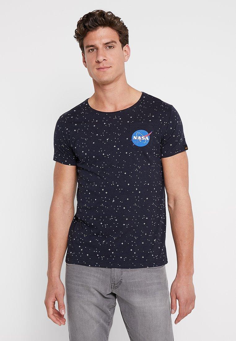 Alpha Industries - STARRY - Print T-shirt - rep blue