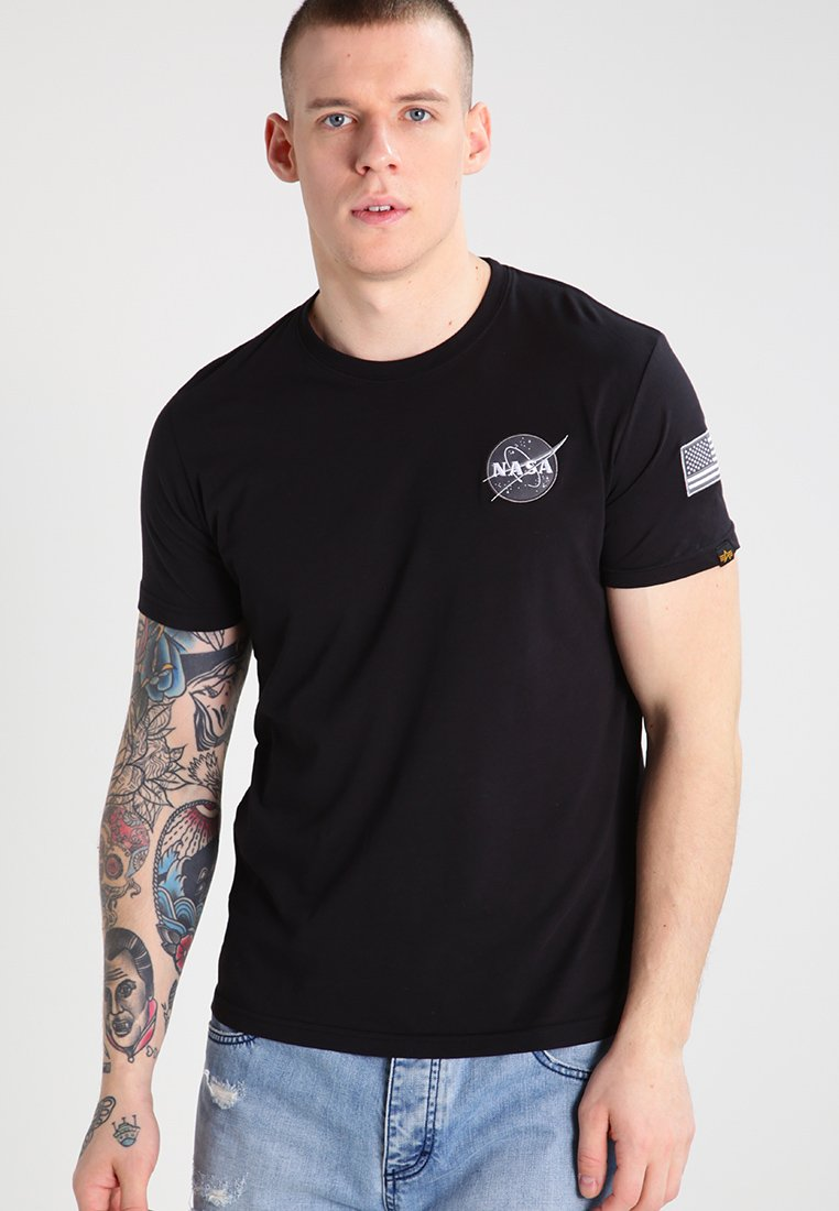 Alpha Industries - SPACE SHUTTLE - Camiseta estampada - black