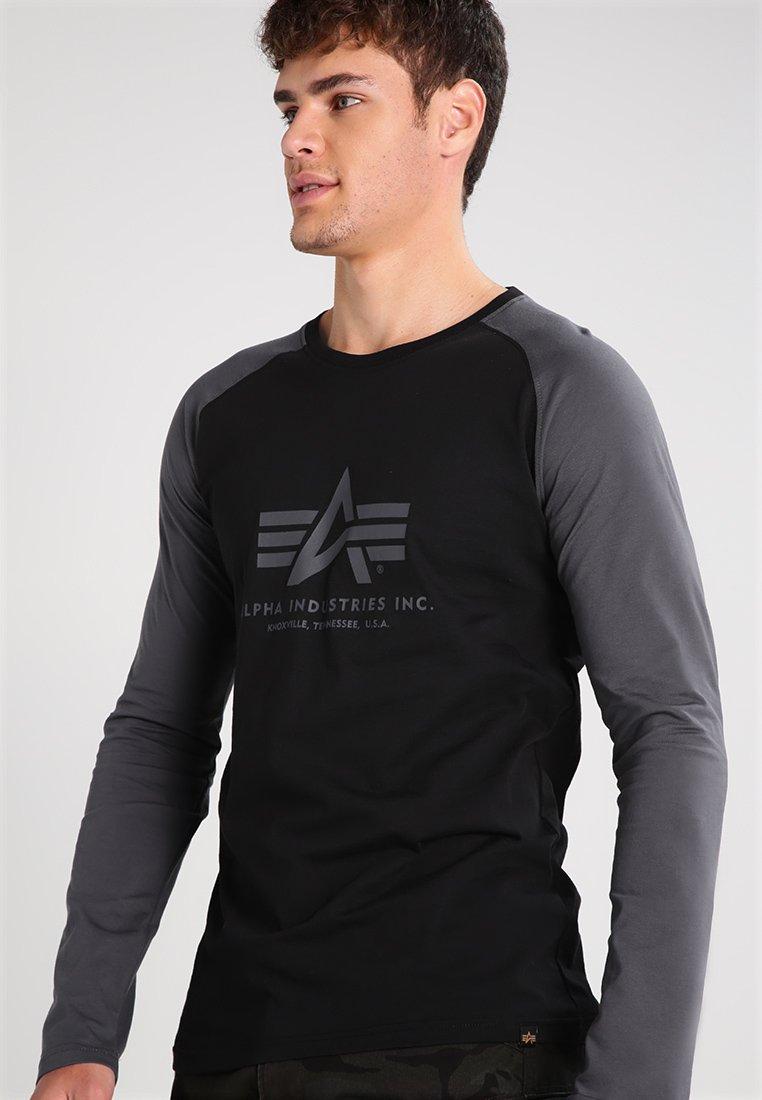 T Manches Industries Black grey Alpha À shirt LonguesBlack fYb7y6gvI