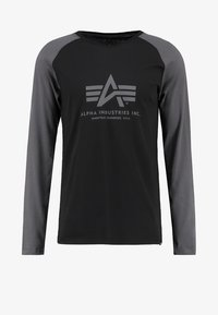 Alpha Industries - Topper langermet - black/grey black - 5
