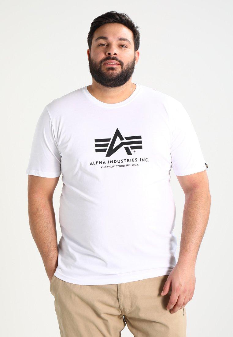Alpha Industries BASIC - T-shirt z nadrukiem - weiss