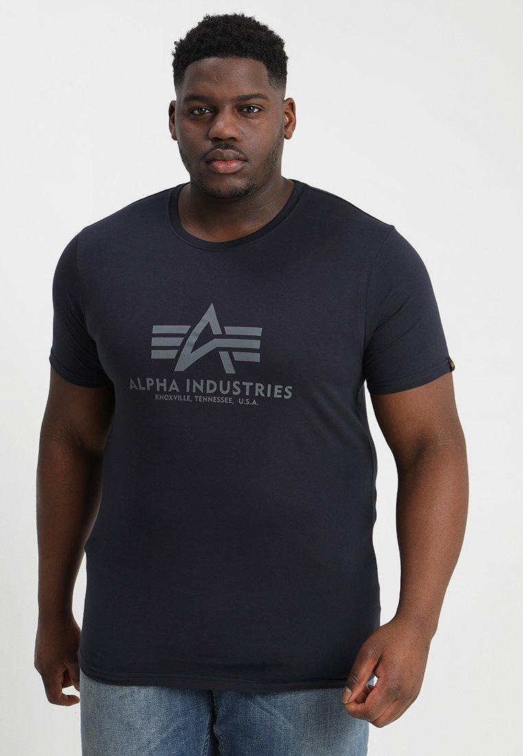 Alpha Industries - BASIC - Print T-shirt - repl blue