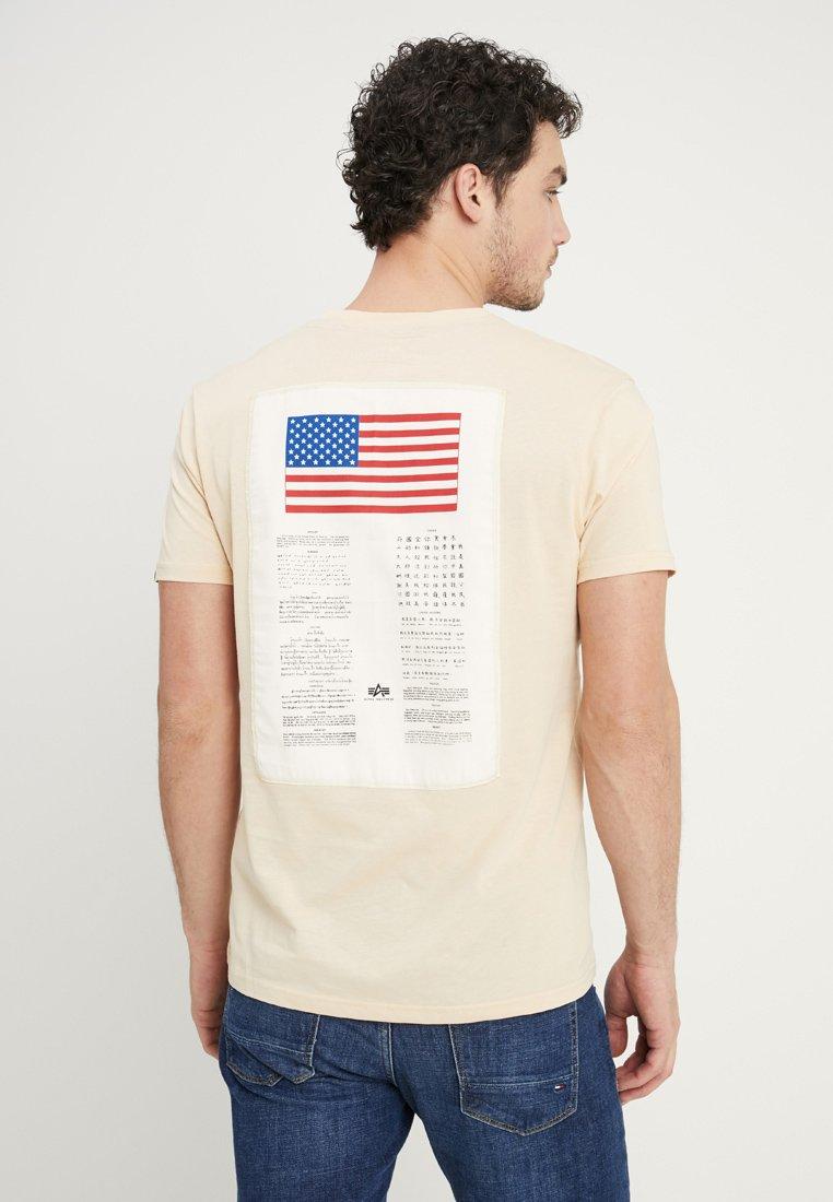 Alpha Industries - BLOOD CHIT - T-Shirt print - caramel