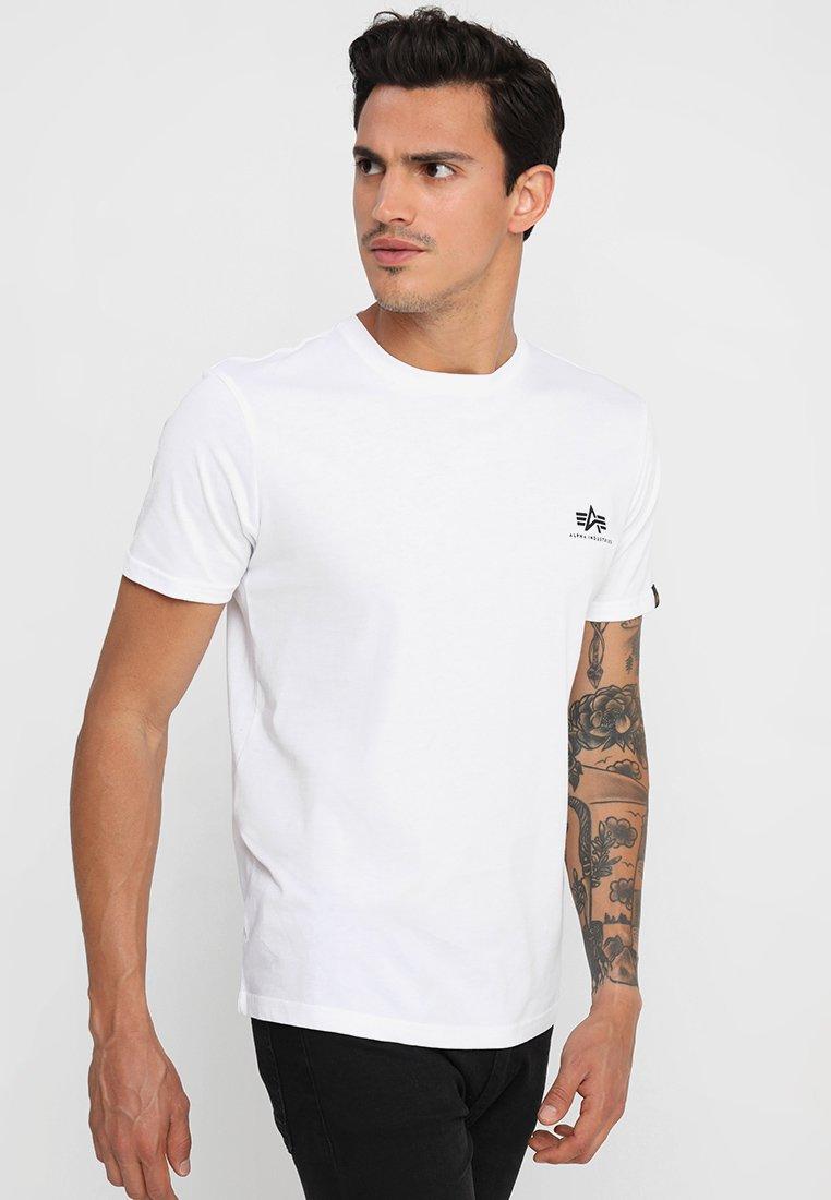 Alpha Industries - BASIC TEE SMALL LOGO - T-shirts basic - white