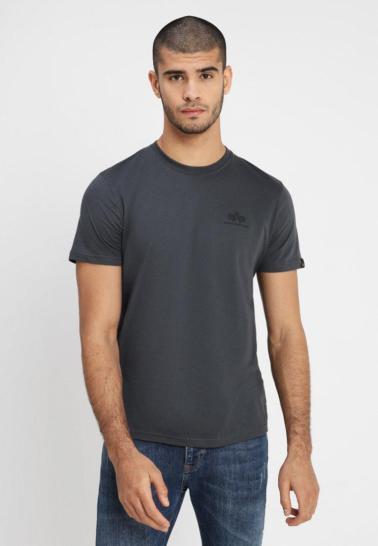 Alpha Industries BASIC TEE SMALL LOGO - Camiseta estampada grey/black