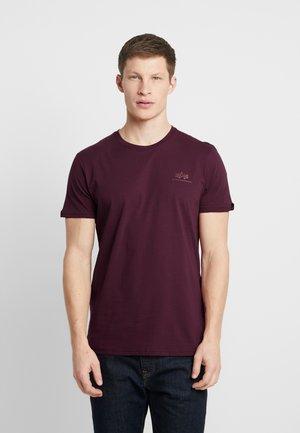 T-shirt basic - burgundy/gold
