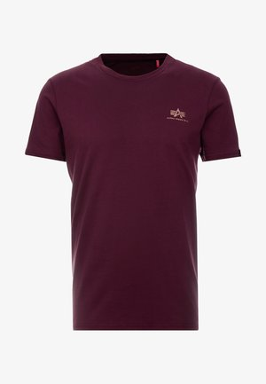 T-shirt print - burgundy/gold
