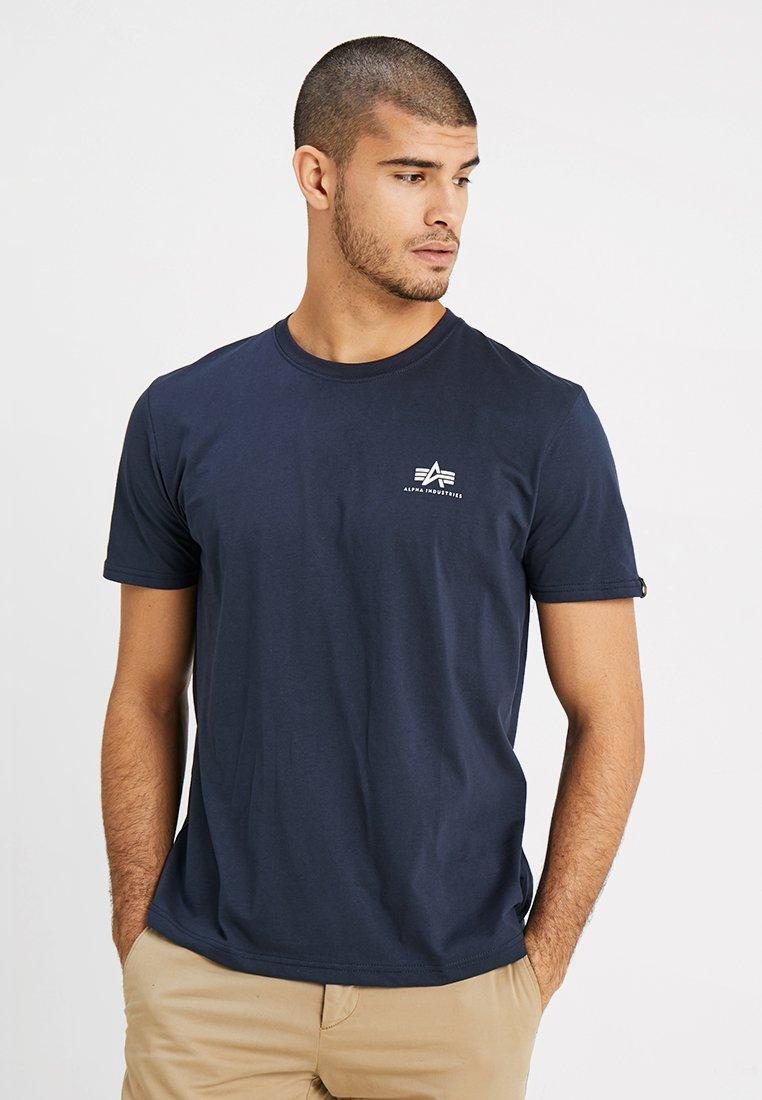 Alpha Industries - BASIC TEE SMALL LOGO - T-shirt basic - navy