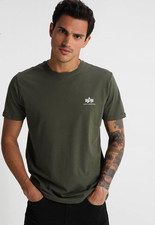 T-shirt basic - dark oliv