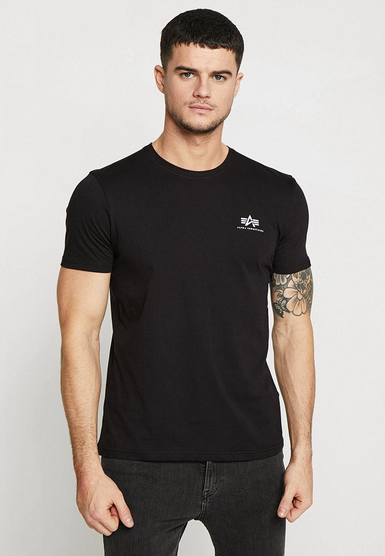 Alpha Industries - BASIC TEE SMALL LOGO - T-shirt - bas - black