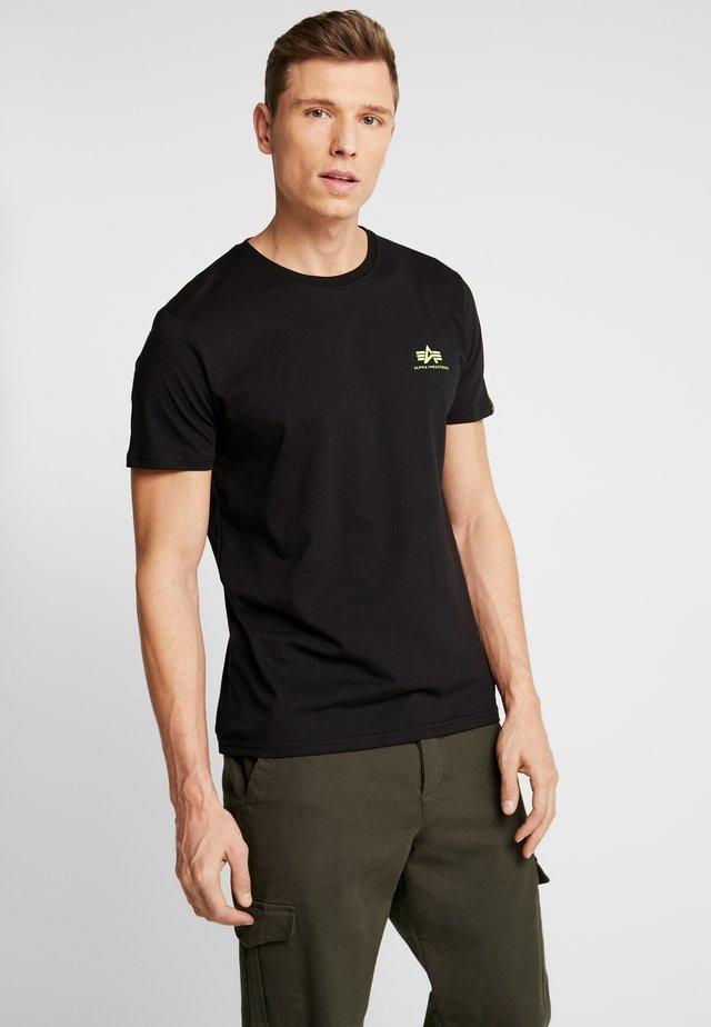 T-shirt basic - black/neon yellow