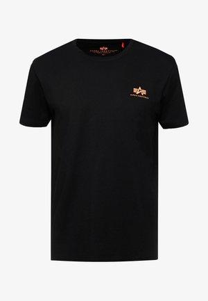 Jednoduché triko - black / neon orange