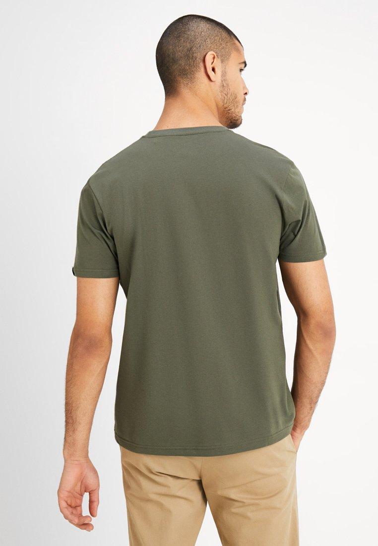 Alpha Industries T-shirt z nadrukiem - dark oliv
