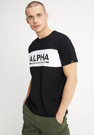 INLAY - T-shirt med print - black