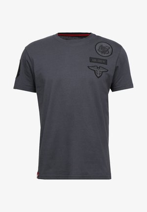 AIR CREW - T-shirt imprimé - grey/black