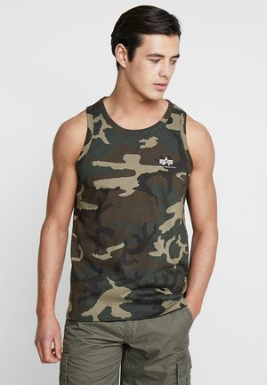 SMALL LOGO TANK - Top - woodland camo