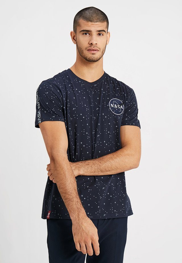 NASA TAPE - T-shirt z nadrukiem - blue