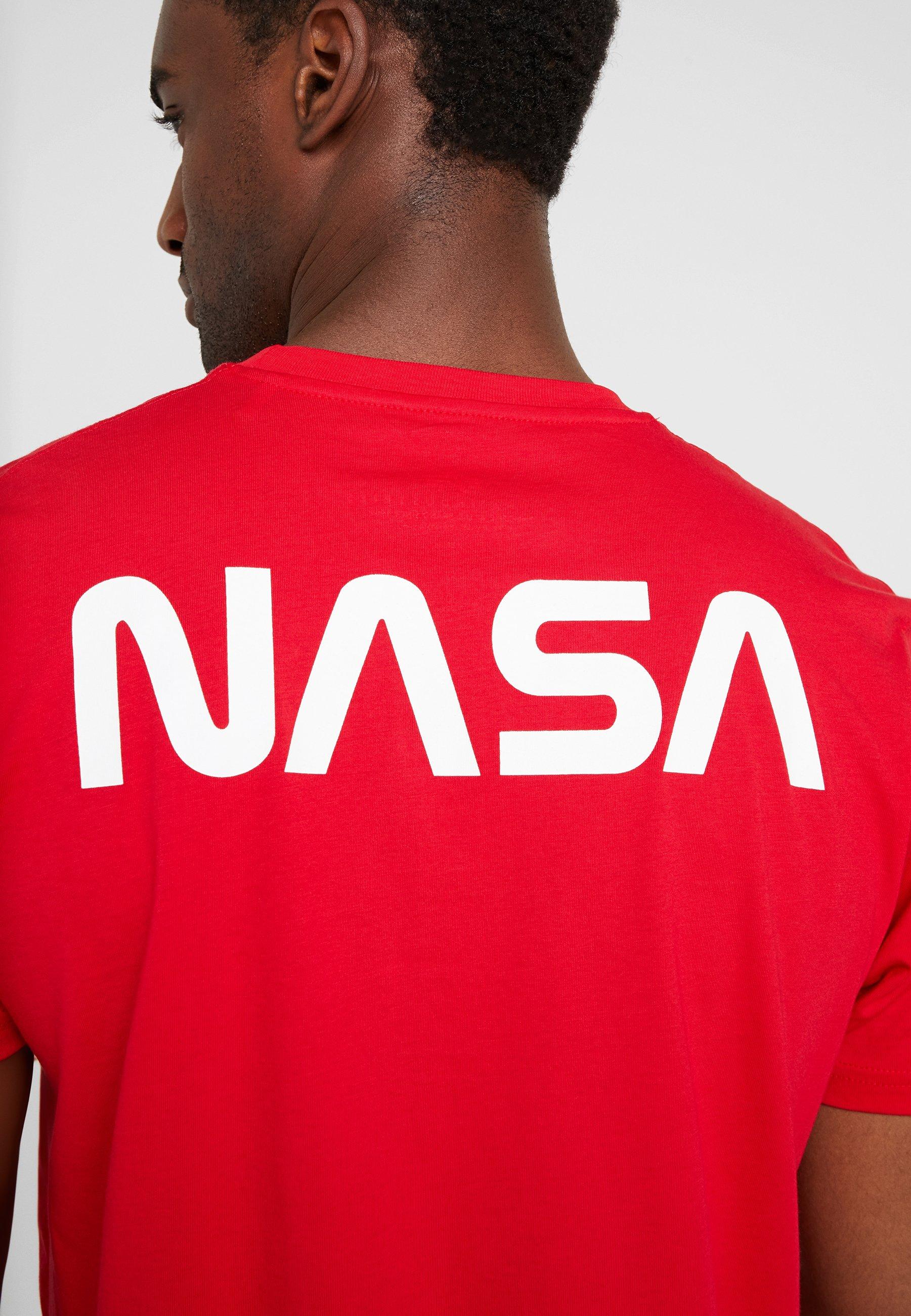 Alpha Industries T-shirt z nadrukiem - speed red