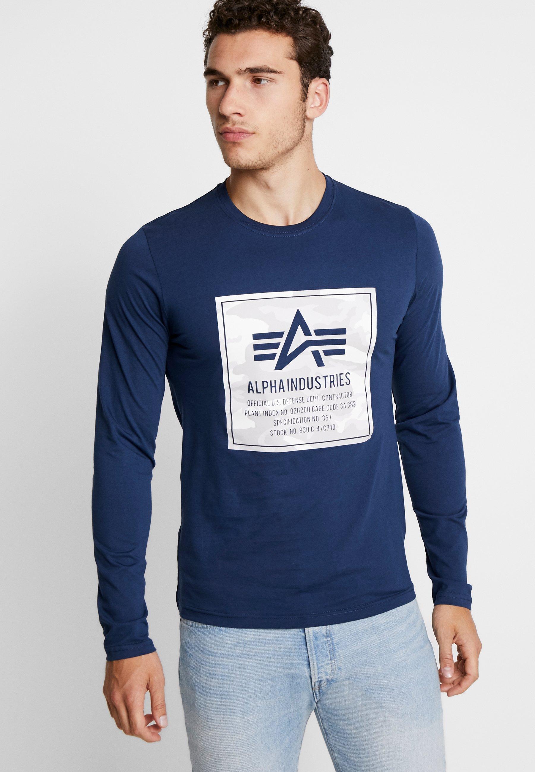 Alpha Industries CAMO BLOCK- Camiseta de manga larga new navy
