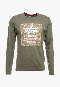 Alpha Industries - CAMO BLOCK  - Långärmad tröja - dark olive - 3