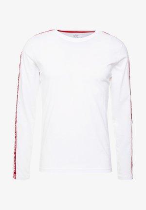 TAPE  - Maglietta a manica lunga - white